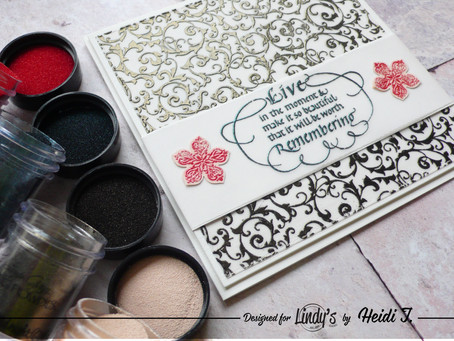 Heat Embossing on Vellum with LSG Embossing Powders