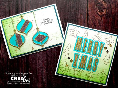 Crealies: Green and Teal Christmas