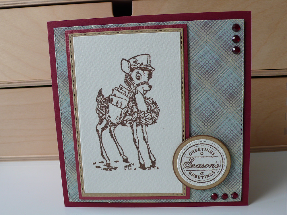 Stampendous Special Delivery wild rose studio sentiment