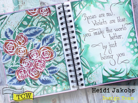 Art Journal Page: Roses are Red