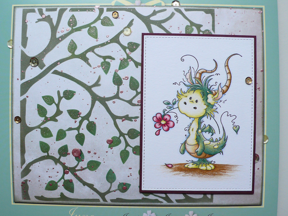 Whimsy Stamps Freddie TCW Mini Leafy Branches