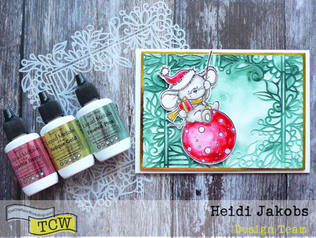 Stenciled Background Christmas Card