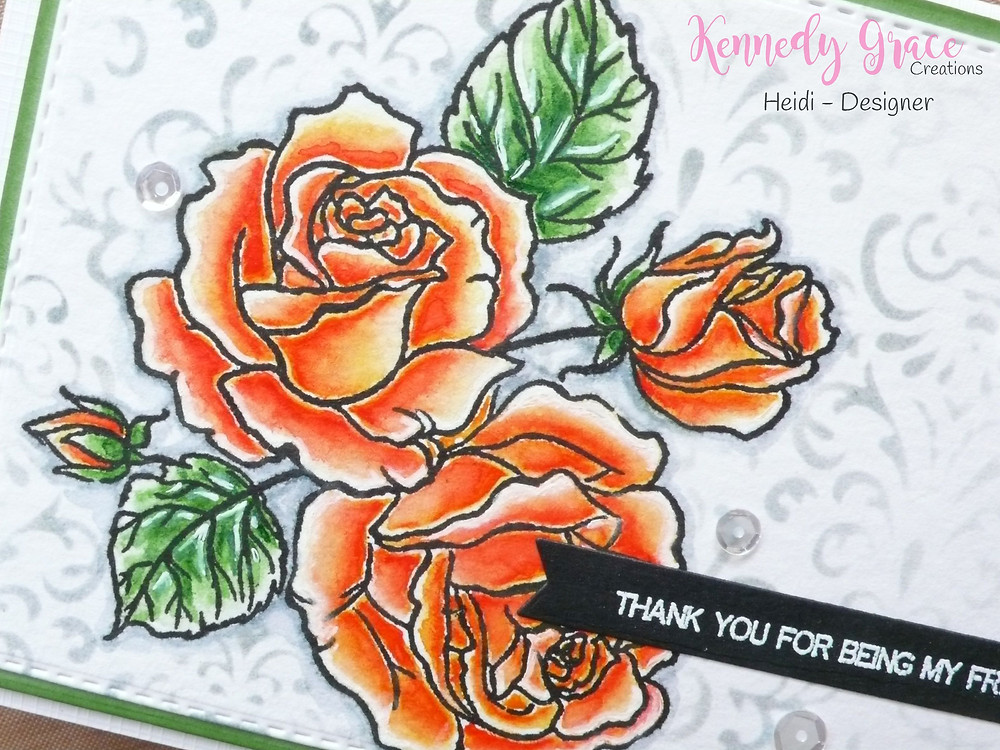Kennedy Grace Creations Splendid Roses Scrapberry Damascus