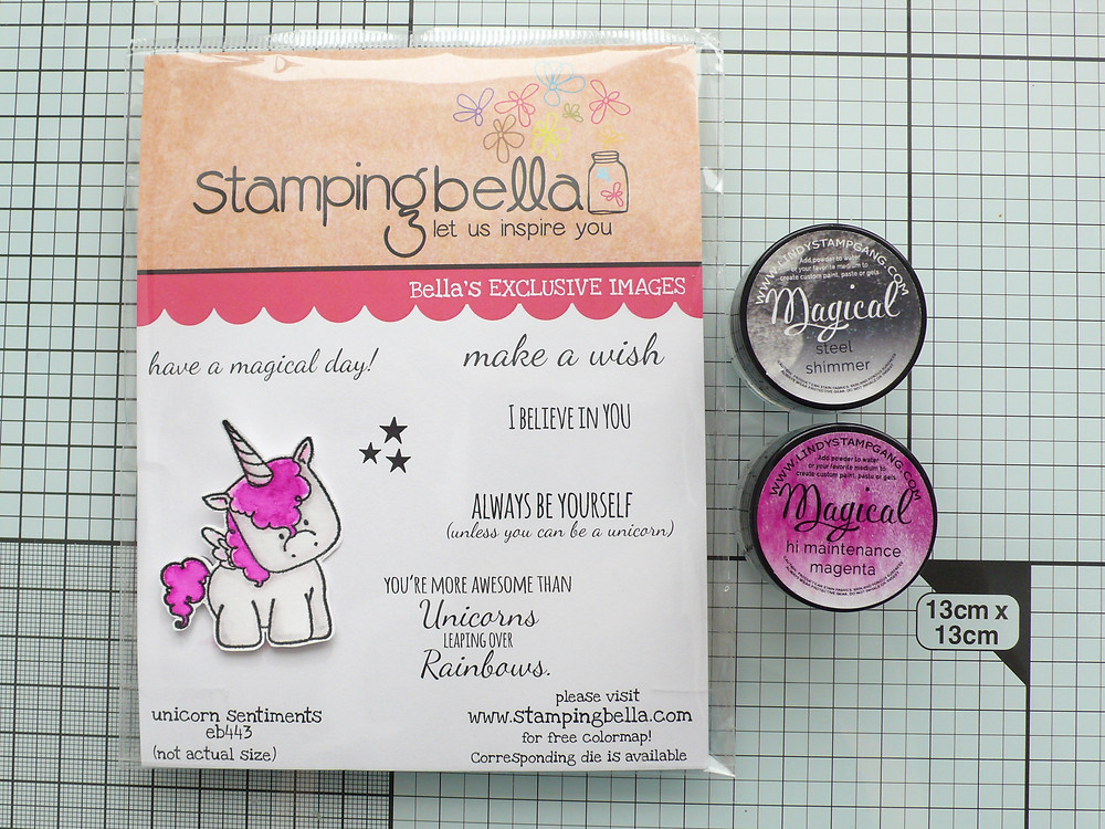 Stampin Bella Unicorn Sentiments