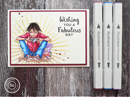 Video Boy with Spectrum Noir Illustrator alcohol markers
