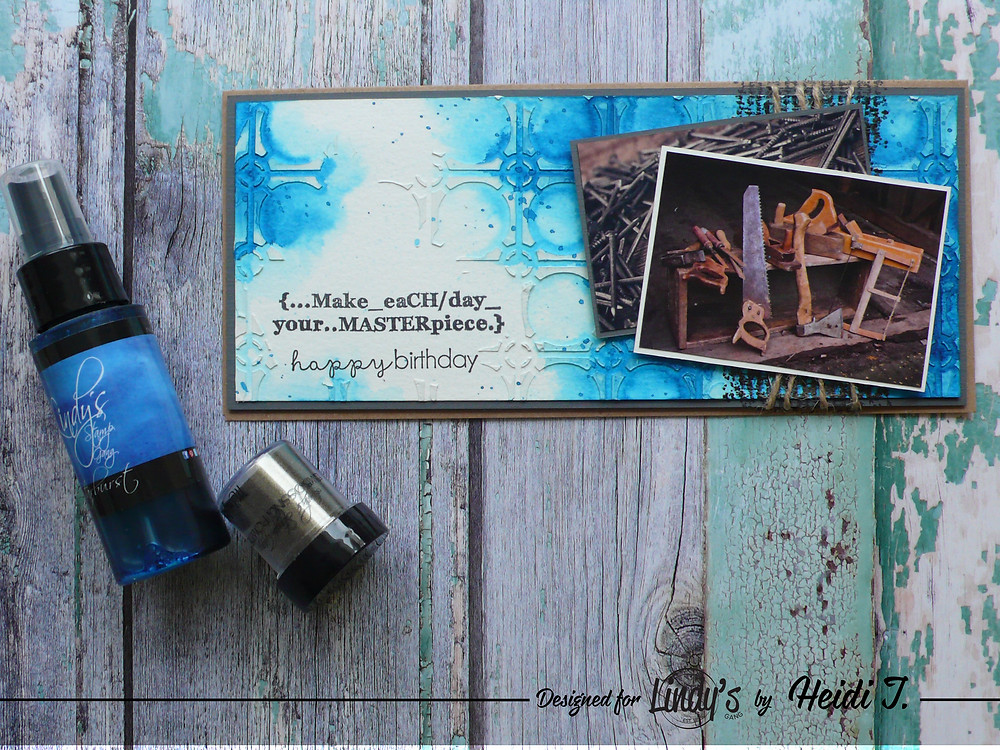 "Lindy's Stamp Gang Spray in ""Bachelor Button Blue"""
