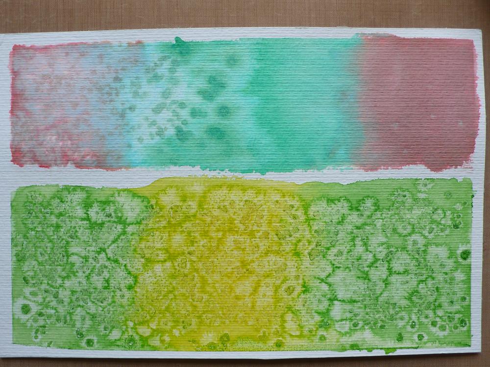 salt and watercolour technique