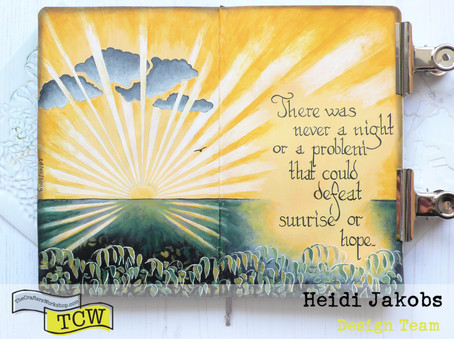 Art Journal Page: Sunrise