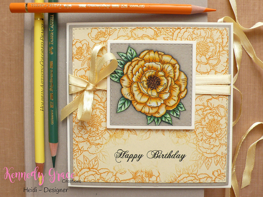 "Kennedy Grace Creations stamp set ""Beautiful Blooms - Sweet Rose"""