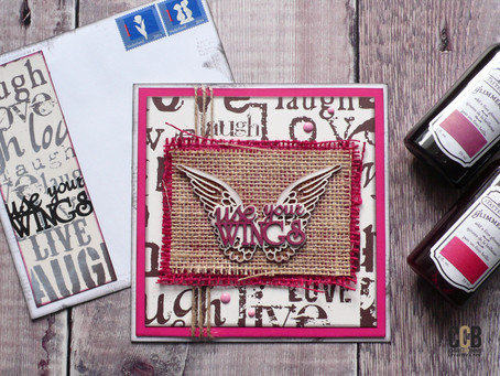 Wings on Wednesday: Uplifting Card with matching Envelope
