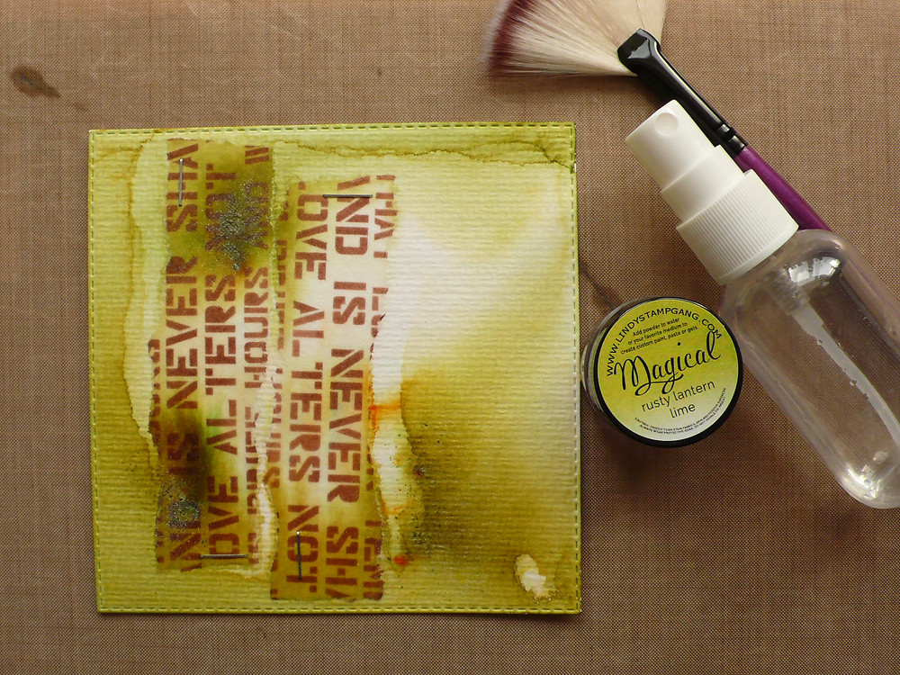 """Lindy's Stamp Gang Magical in the colour """"Rusty Lantern Lime"""""""