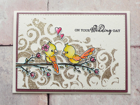 Spectrum Noir Wedding Card