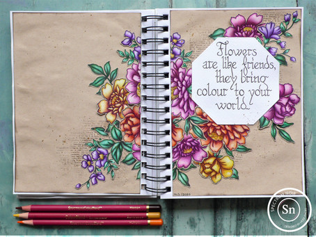 Art Journal Page: Friends are like Flowers