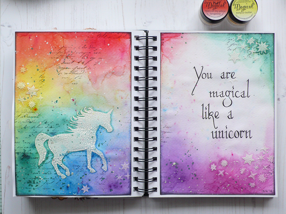 The Crafter's Workshop Unicorn stencil