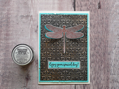 Easy Dragonfly Card