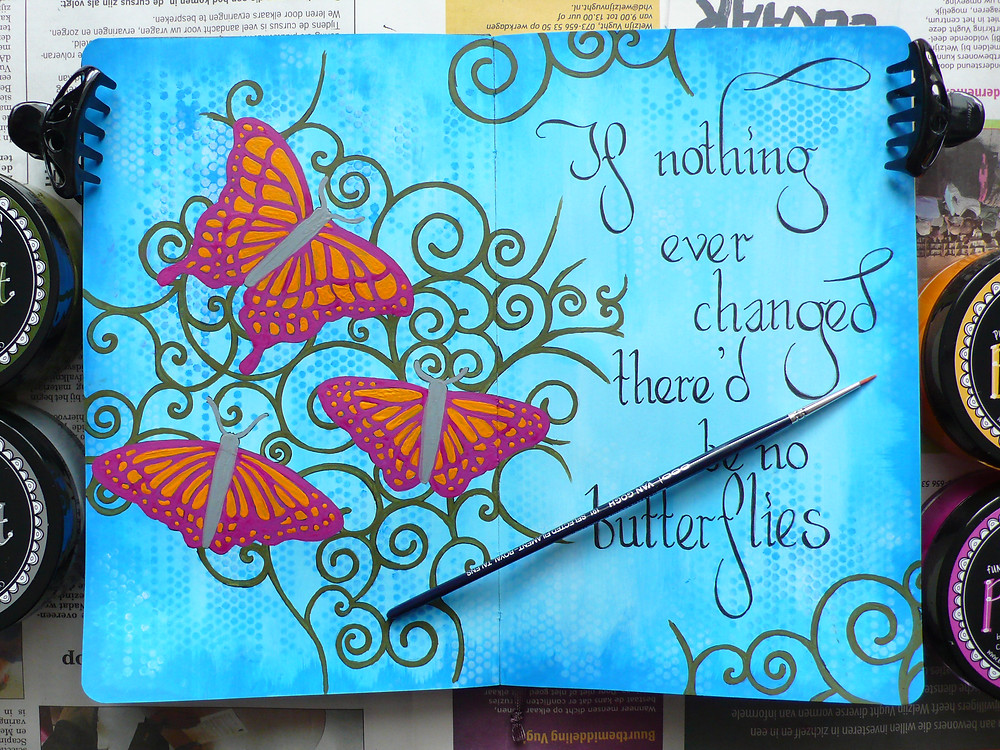 The Crafter's Workshop Flutterby stencil TCW206