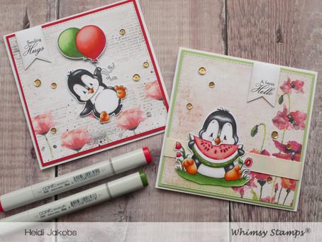Whimsy Stamps Guest Designer - Penguin Cards