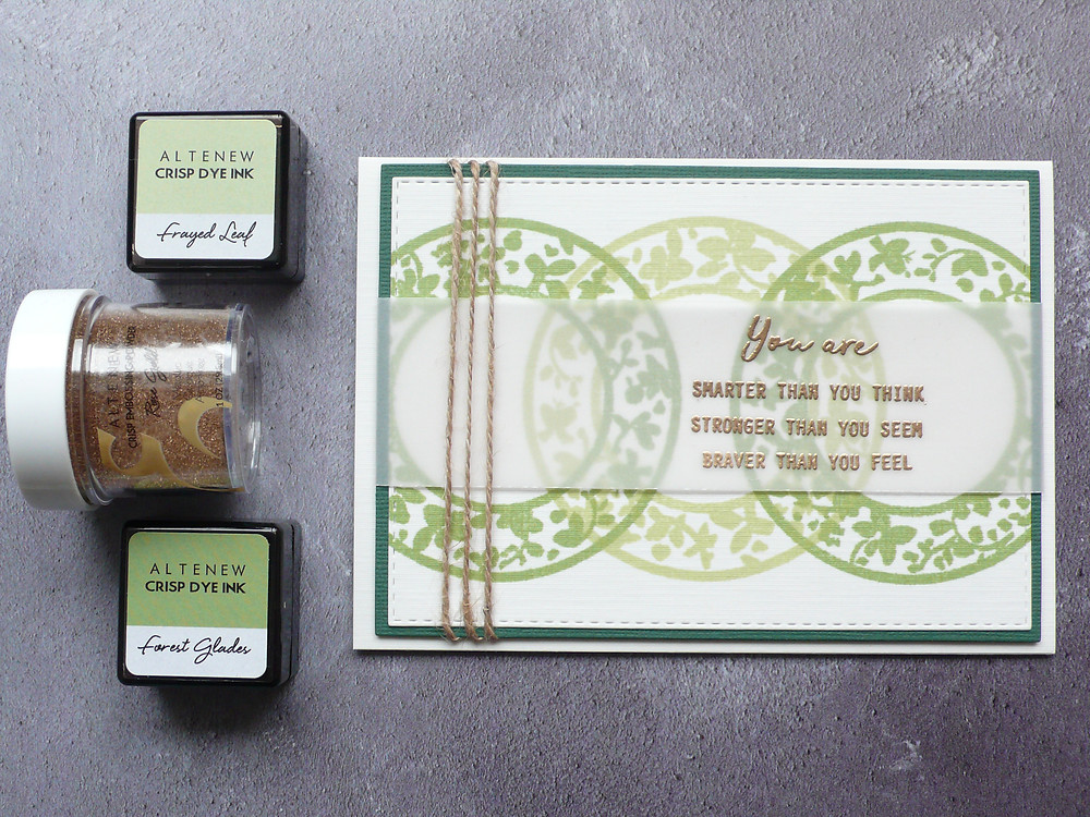Altenew Botanical Silhouettes stamp set Reason to Smile stamp set