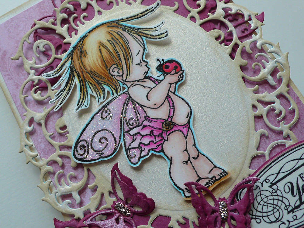 penny black fairy sweet zig clean color real brush markers whimsy stamps joy crafts die