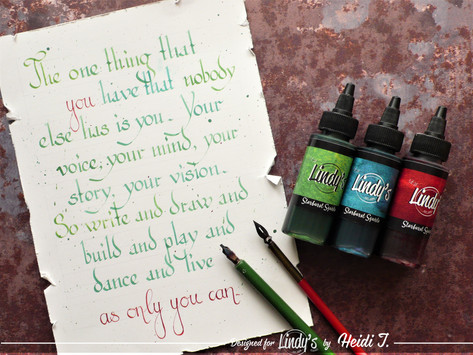 Calligraphy and Squirts with Heidi