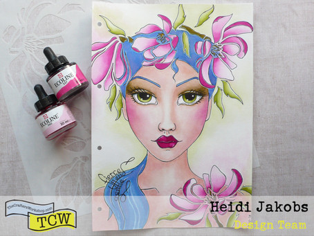Art Journal Page: Magnolia Lady