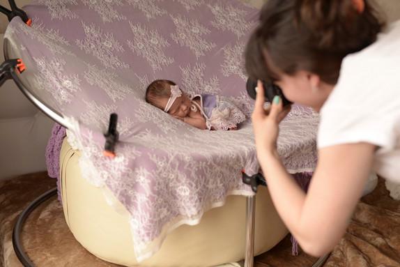 за кадром - фотосессия newborn