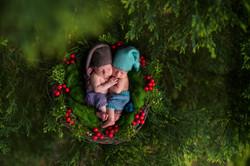 художественное newborn фото