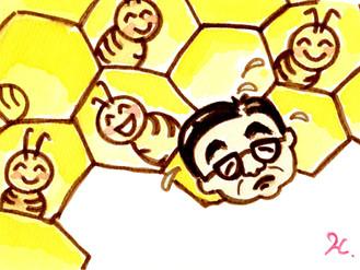 ハチ博士のミツバチコラム(40)女王バチ、雄バチ、働きバチのうち、どのハチになりたい?