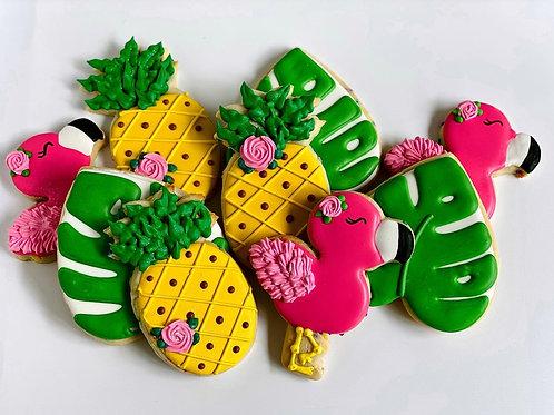 Pineapple Flamingo Cookies