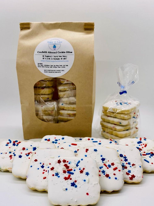 4th of July Themed, Confetti Almond Cookie Bites
