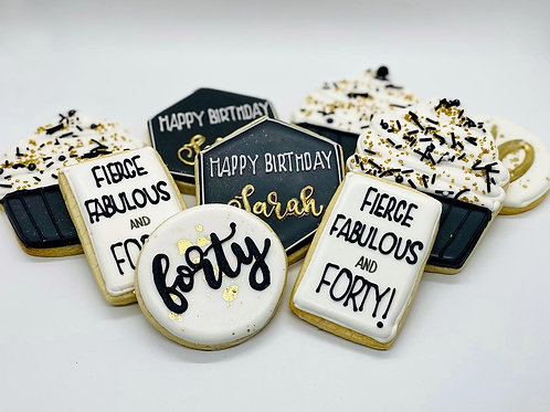 40th Bday Cookies