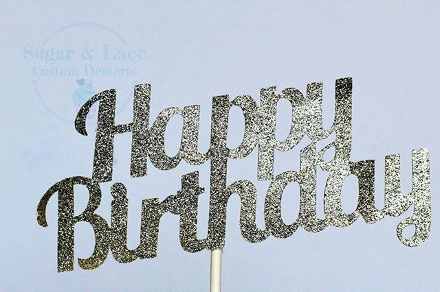 Glitter Happy Birthday Card-Stock