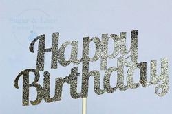 Glitter Happy Birthday Card-Stock