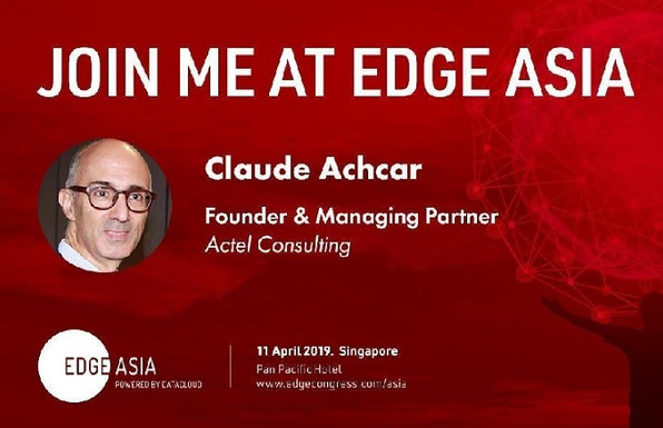 Actel Consulting will be Delivering a Keynote at Edge Asia