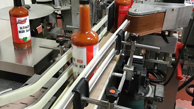 Bottles being made at manufacturer