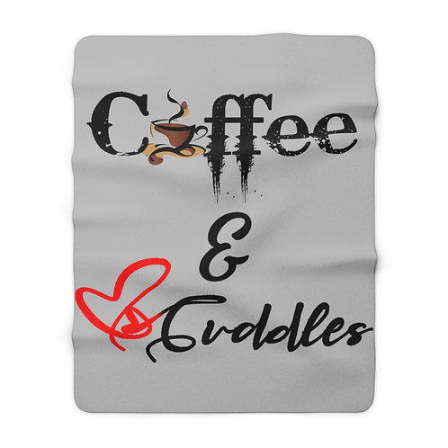 Coffee & Cuddles Sherpa Blanket