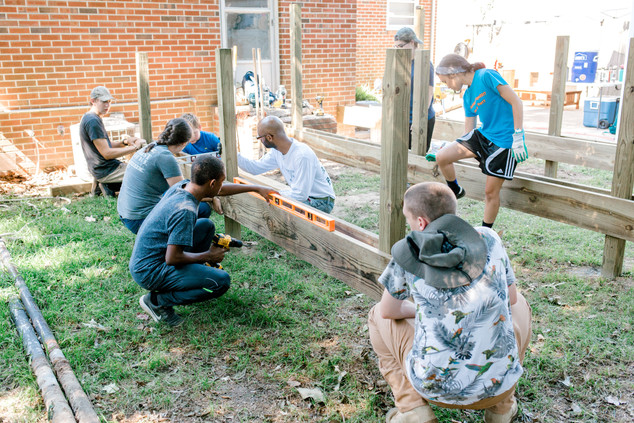 Youth Leveling the Deck