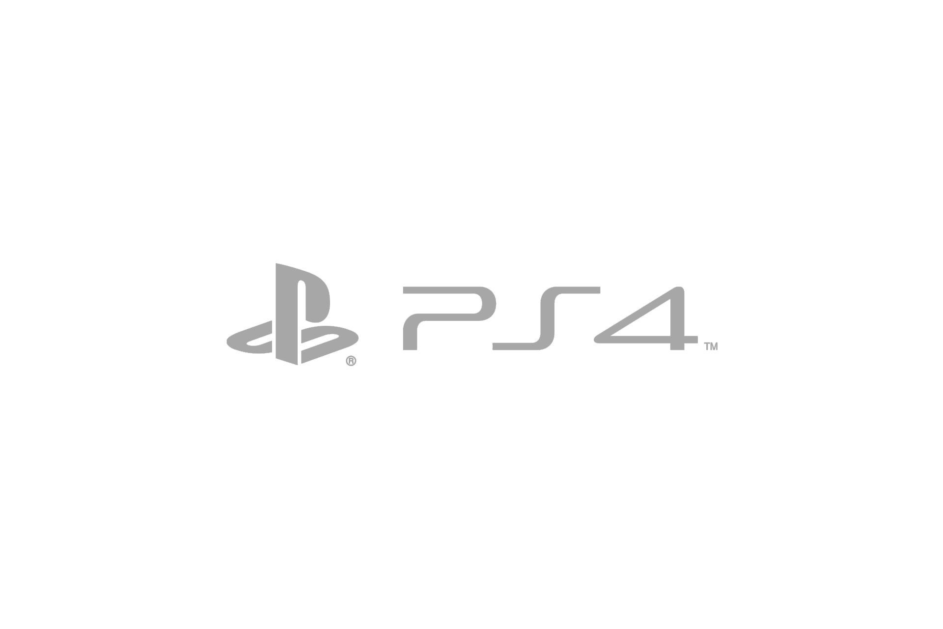 ps4 logo grey