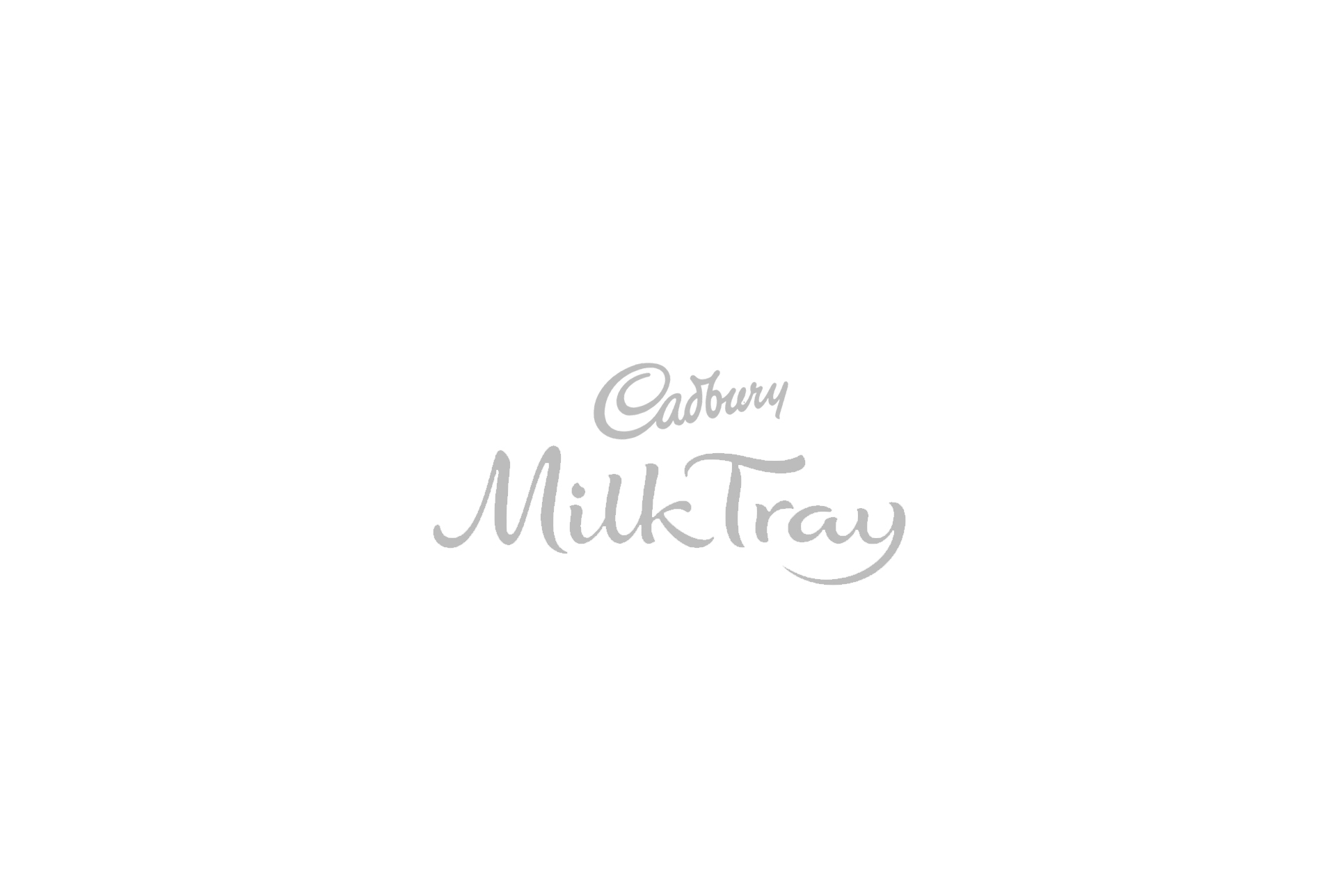 cadbury milk tray logo grey
