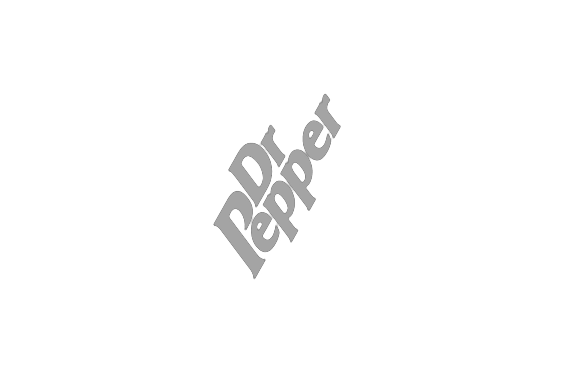dr pepper logo grey