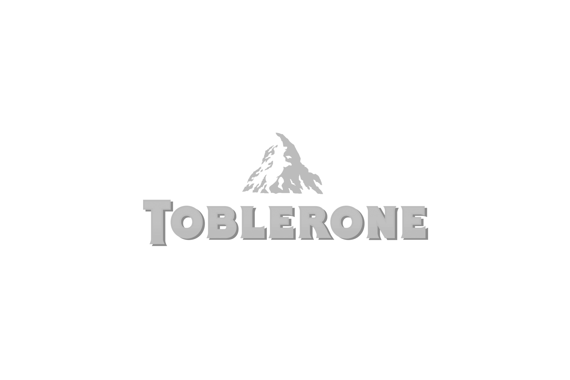 toblerone logo grey
