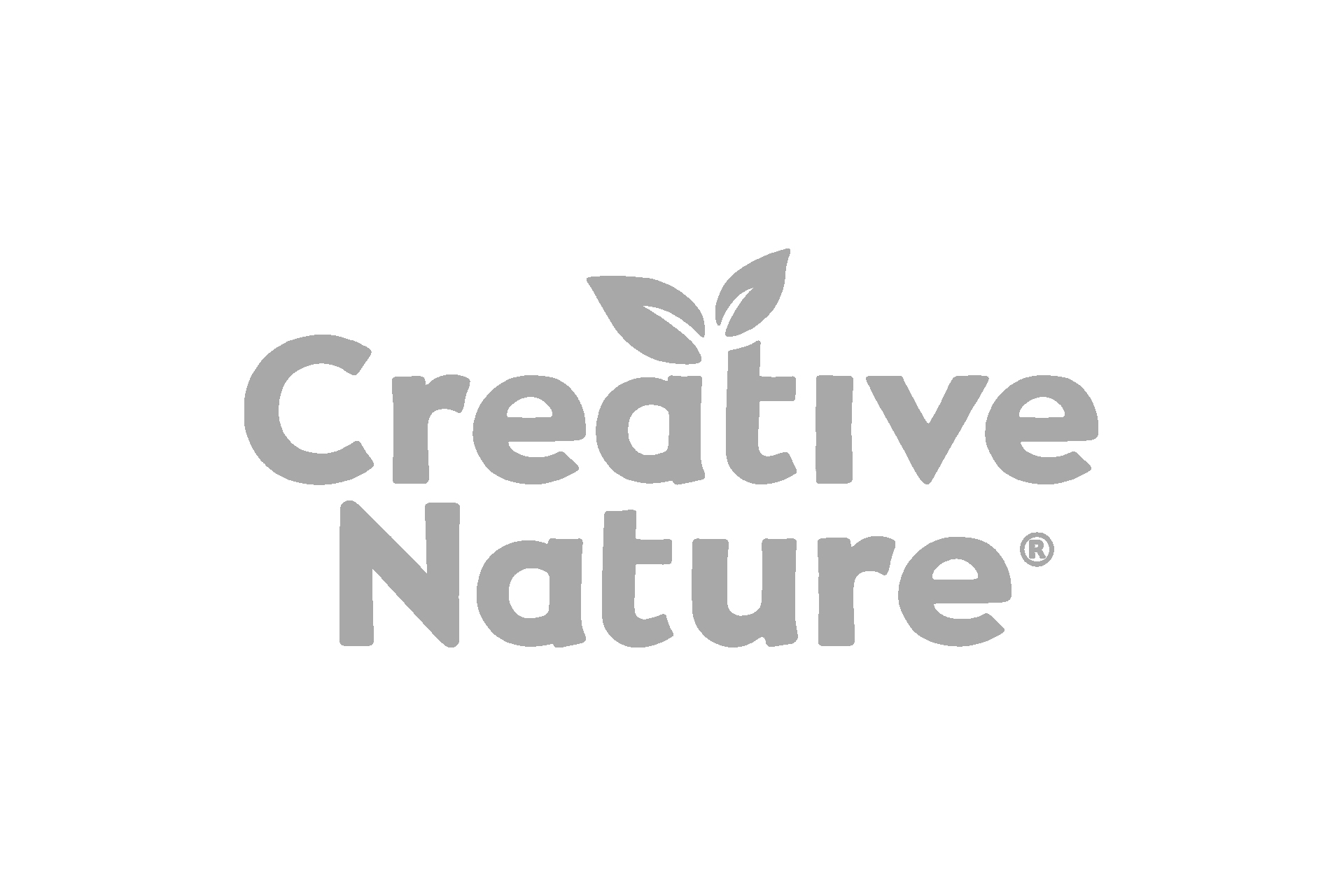creative nature logo grey