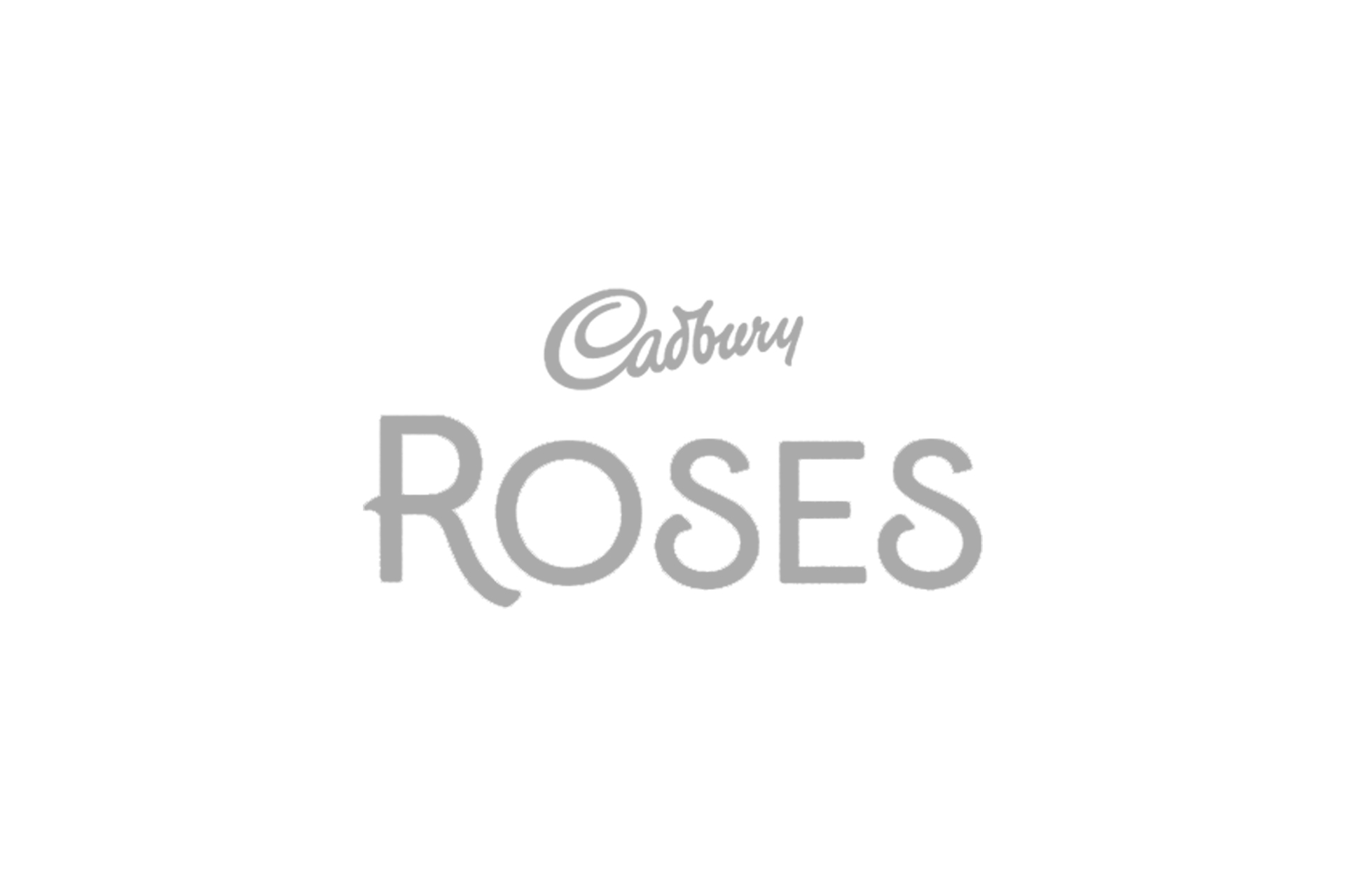 cadbury roses logo grey