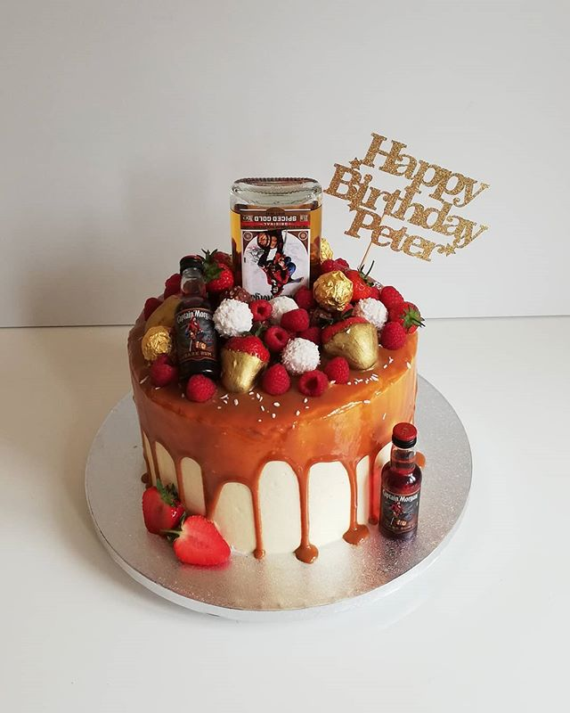 Captain Morgan Alcohol drip cake
