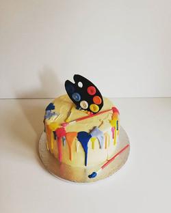 Rhubarb and custard cake _Custard cake w