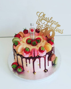 Alcohol bottle drip cake  - ciroc bottle drip cake
