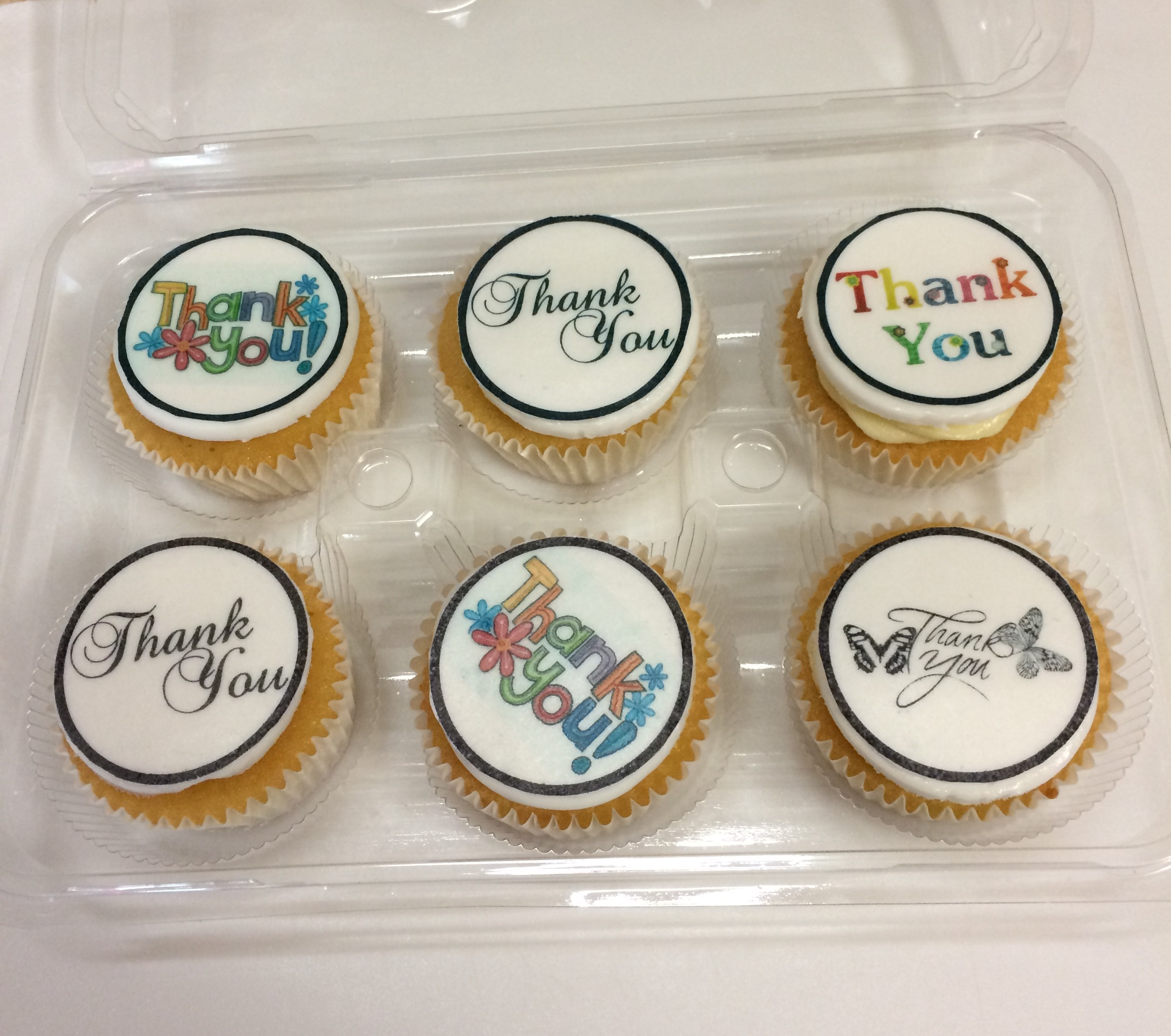 'Thank you' say it with a cupcake