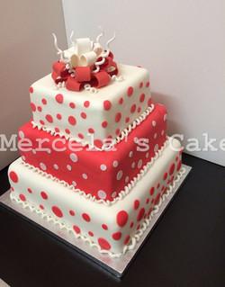 3 Tier Polka dot Cake