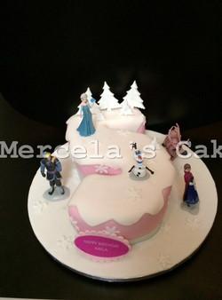 number 5 cake, frozen cake