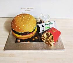 Cheese burger Cake